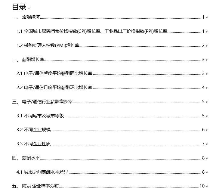 020年行业薪酬报告_