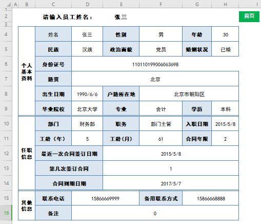 人事档案员工信息台账及人员结构分析表Excel(设置自动提醒)免费下载